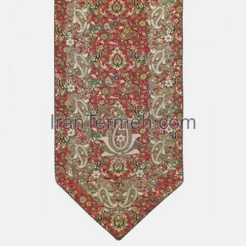 افشار قرمز تار سفید 0125 رانر نهارخوری (سرمه دوزی)