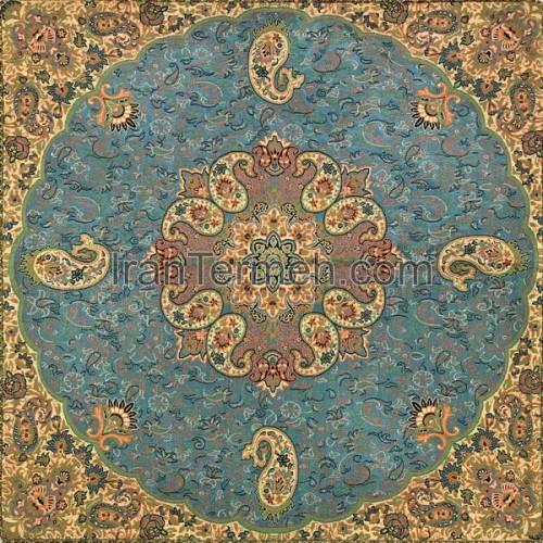 خورشید آبی بدون لمه تار سفید رومیزی مربع سایز 50 سانتی متر