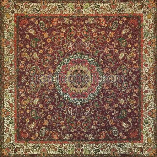 شقایق زرشکی تارمشکی رومیزی مربع سایز 100 سانتی متر