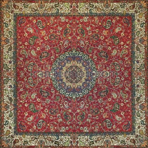 شقایق قرمز تارمشکی رومیزی مربع سایز 100 سانتی متر
