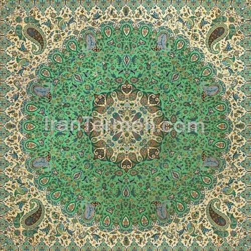 پردیس سبز تارسفید رومیزی مربع سایز 100 سانتی متر