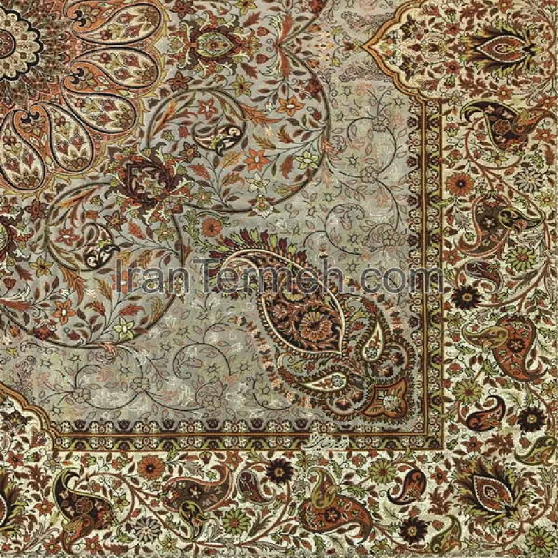 Afshari Light Brown Tablecloth Size 100 Cm