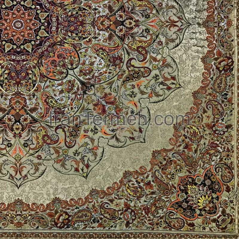 Bakhtiari Light Brown Tablecloth Size 100 Cm