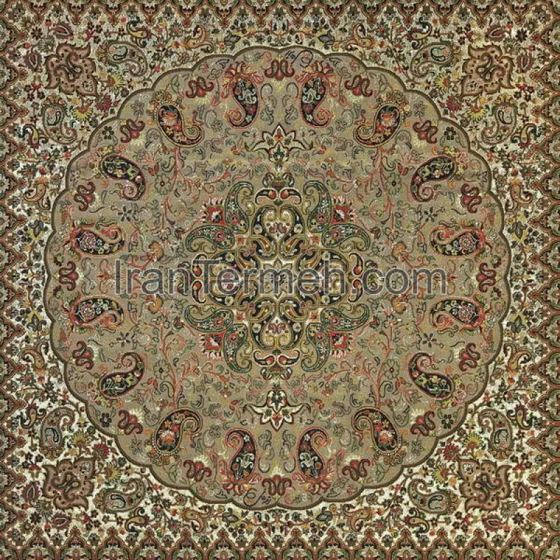 Shah Pasand Light Brown Tablecloth Size 50 Cm