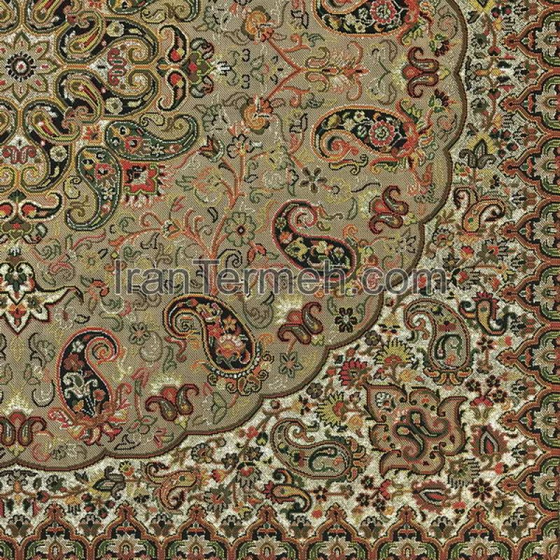 Marvelous Shah Pasand Light Brown Tablecloth Size 50 Cm