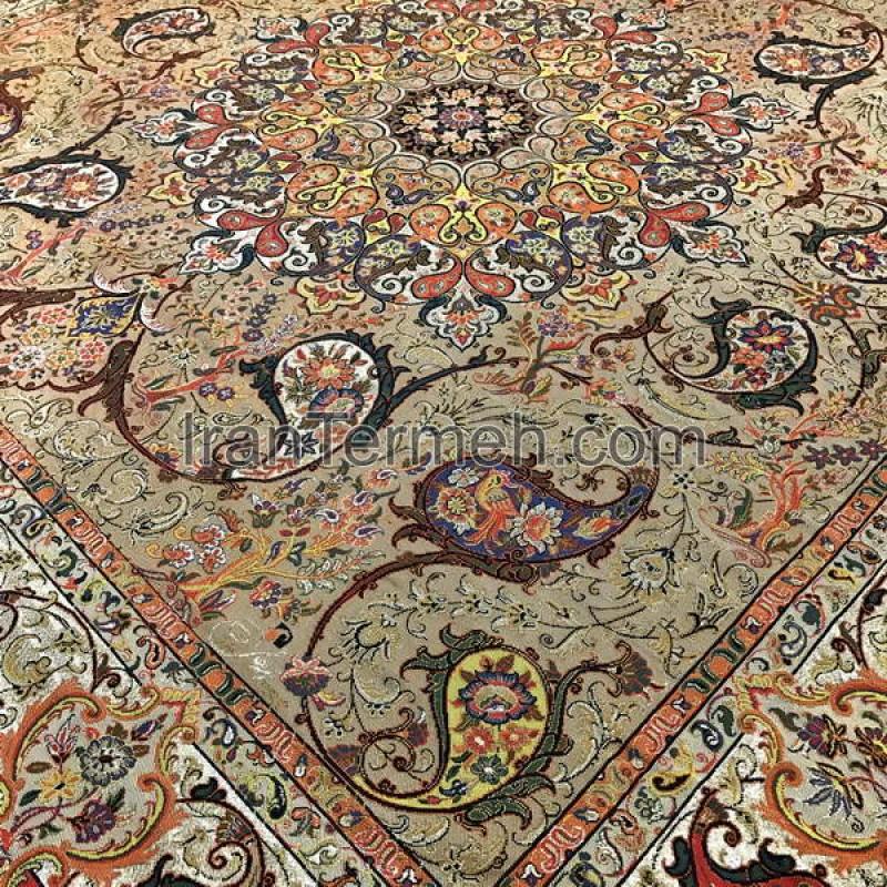 Lovely Shahriar Light Brown Tablecloth Size 100 Cm