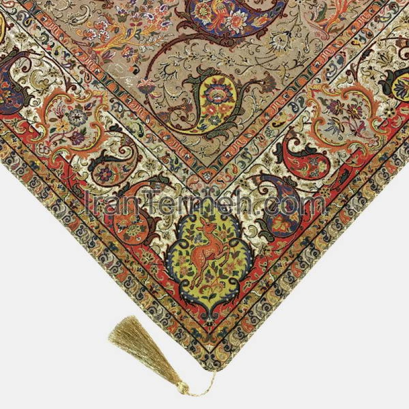 Shahriar Light Brown Tablecloth Size 100 Cm